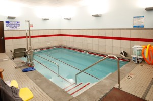 Therapy pool empty