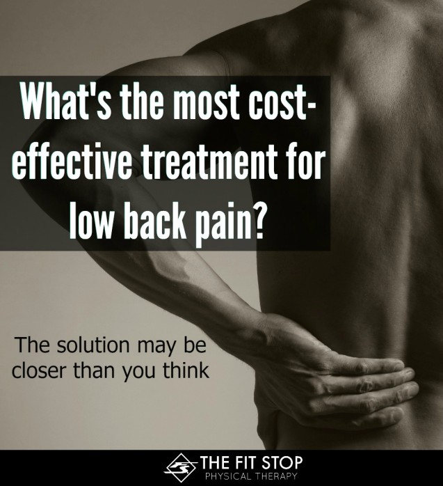Least expensive treatment for low back pain