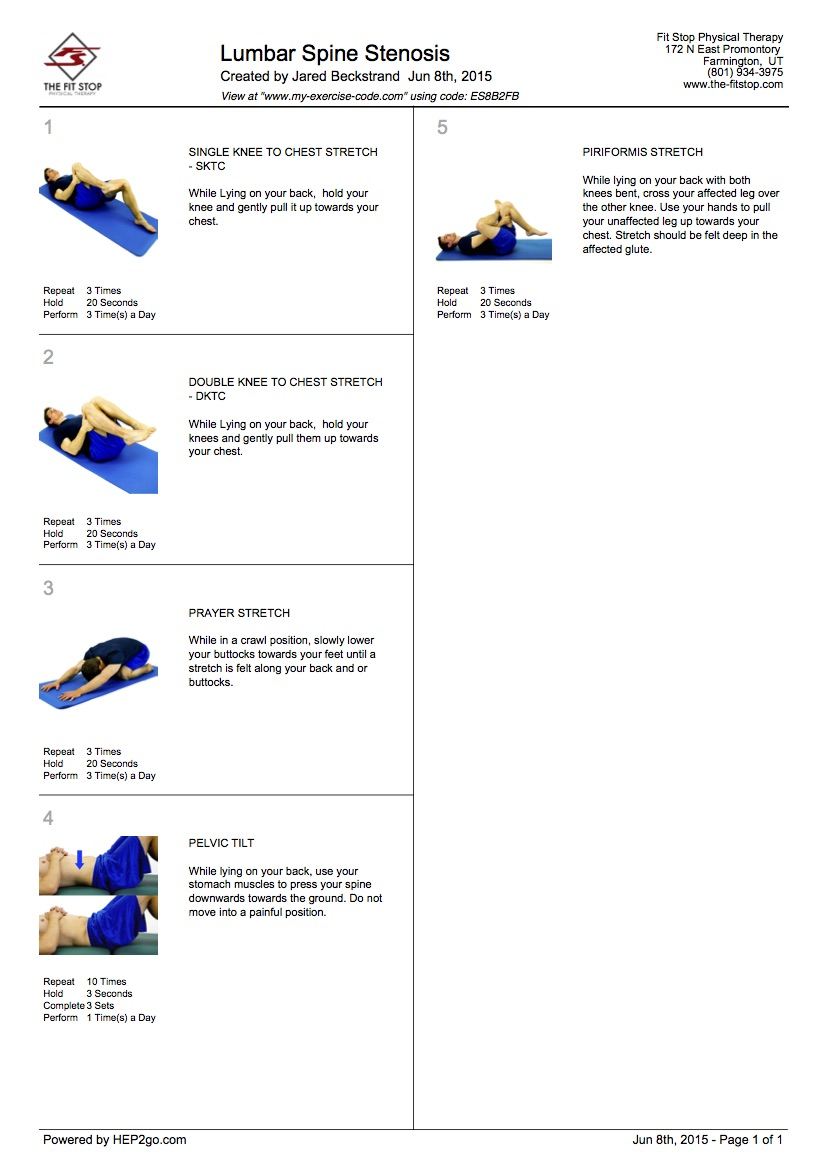 Lumbar Spine Stenosis Exercises
