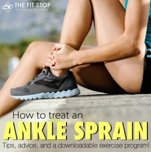 how to treat an ankle sprain best exercises physical therapy