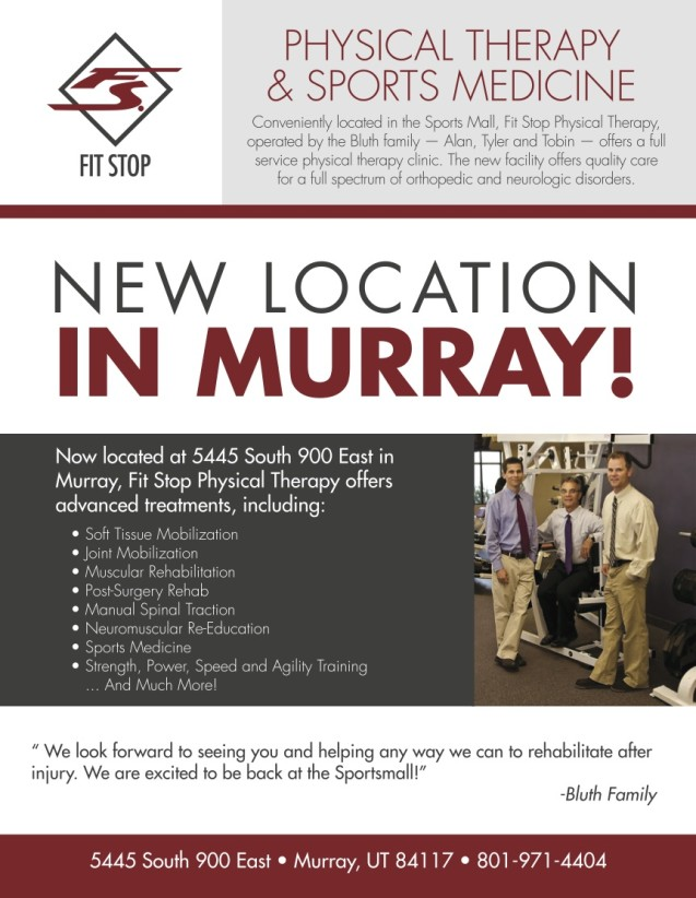 New Physical Therapy Office in Murray!
