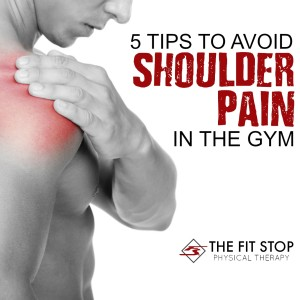avoid eliminate shoulder pain gym weight lifting physical therapy