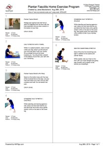 Plantar fasciitis home exercise program