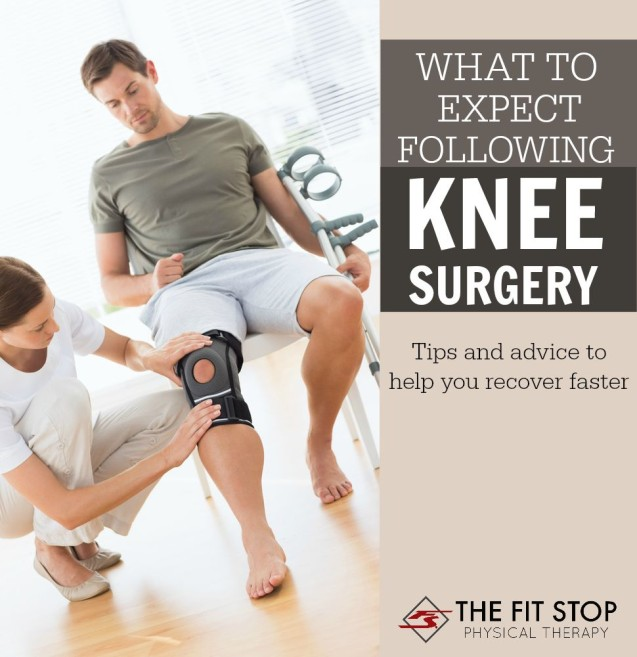 What you need to know following knee surgery