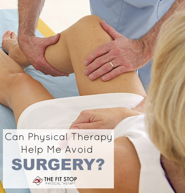 Can physical therapy help me avoid surgery?