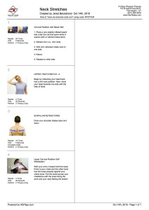 neck stretches HEP