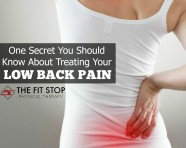 How to treat your low back pain