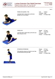 Extension Exercises