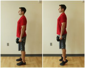 heel raise exercise dumbbell